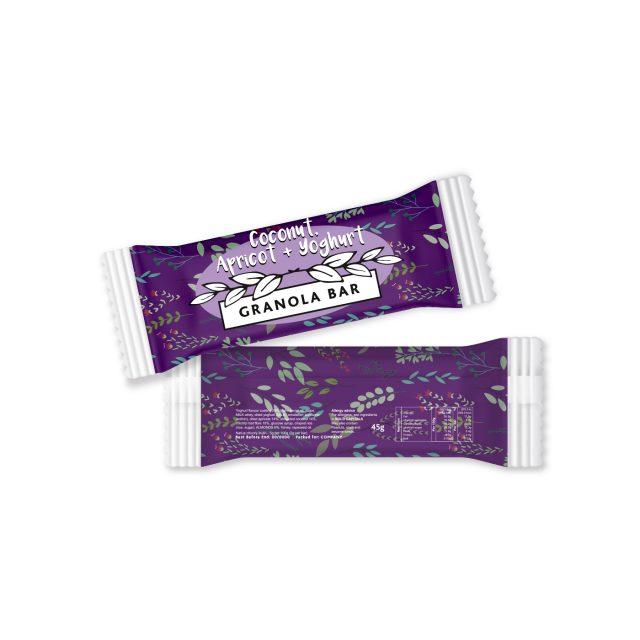 Paper Flow Bag – Coconut, Apricot & Yoghurt – Granola Bar