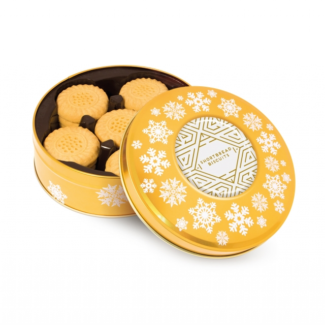 Winter Collection – Share Tin – Shortbread Biscuits – Gold