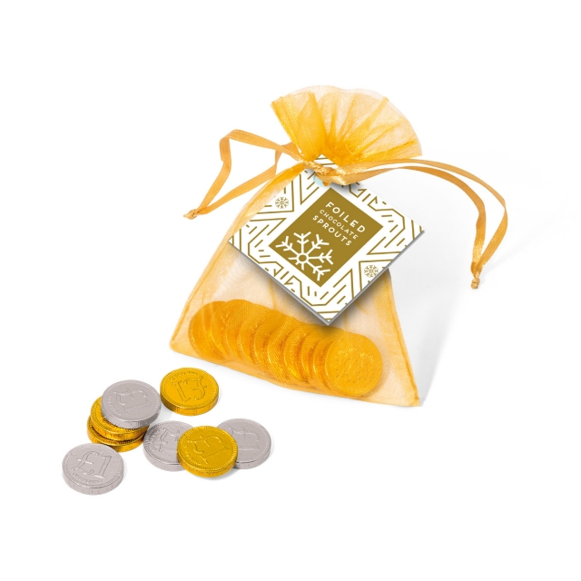 Winter Collection – Organza Bag – Chocolate Coins