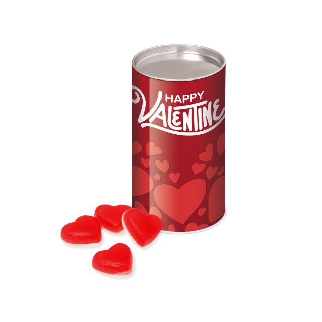 Valentines – Small snack tube – Haribo Heart Throbs