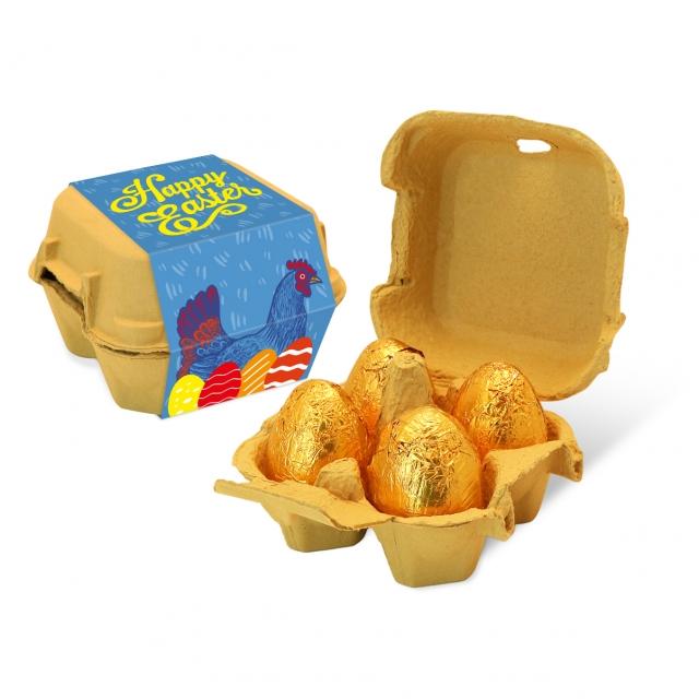 Easter – Egg Box – Gold foiled egg – x4
